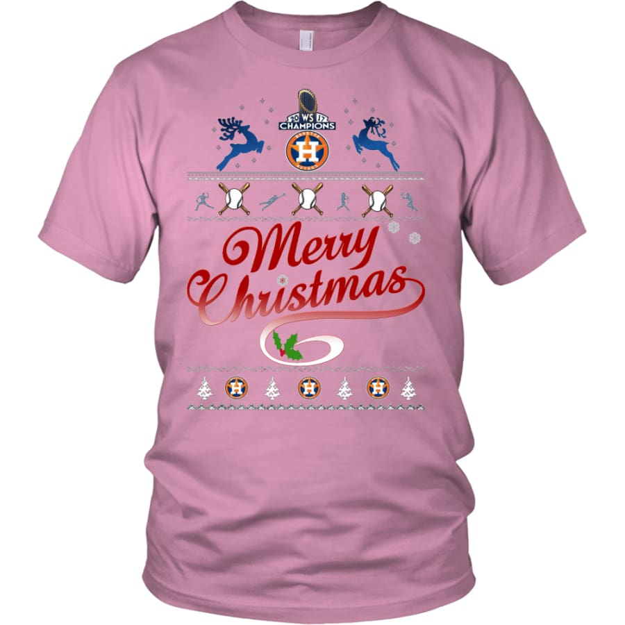 Houston Astros Shirts For Christmas (13 Colors) - District Unisex Shirt / Pink / S