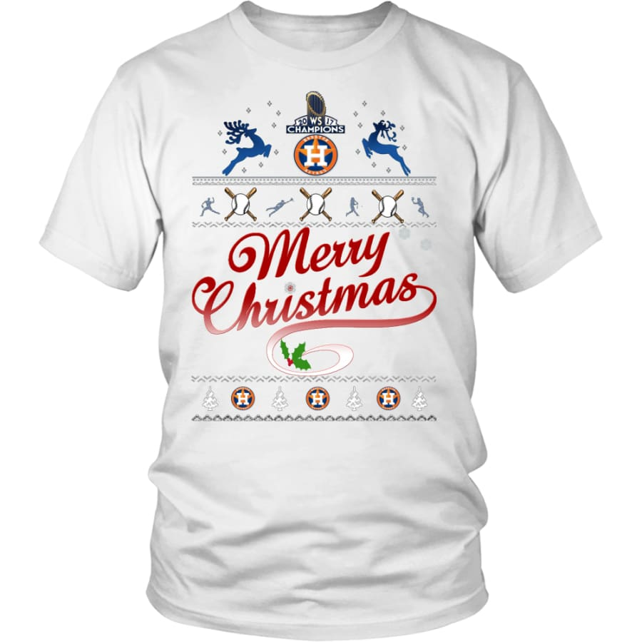 Houston Astros Shirts For Christmas (13 Colors) - District Unisex Shirt / White / S