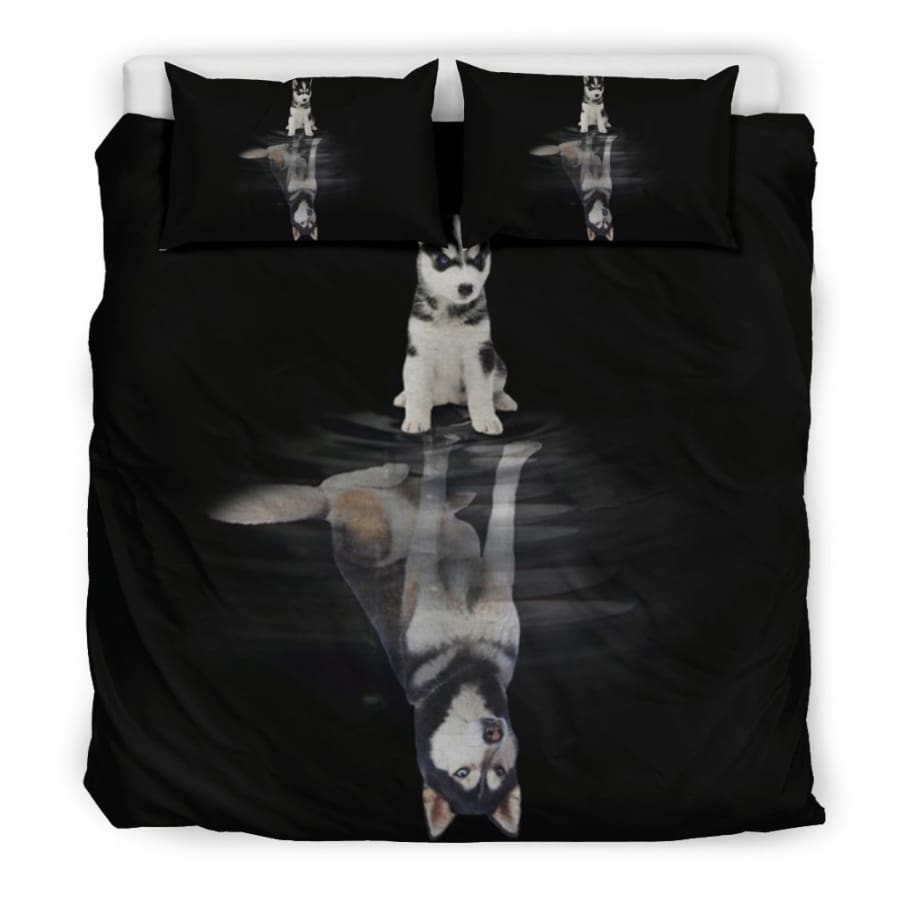 Husky Dream Bedding Set| Dog Twin/ Queen/ King Size - Set