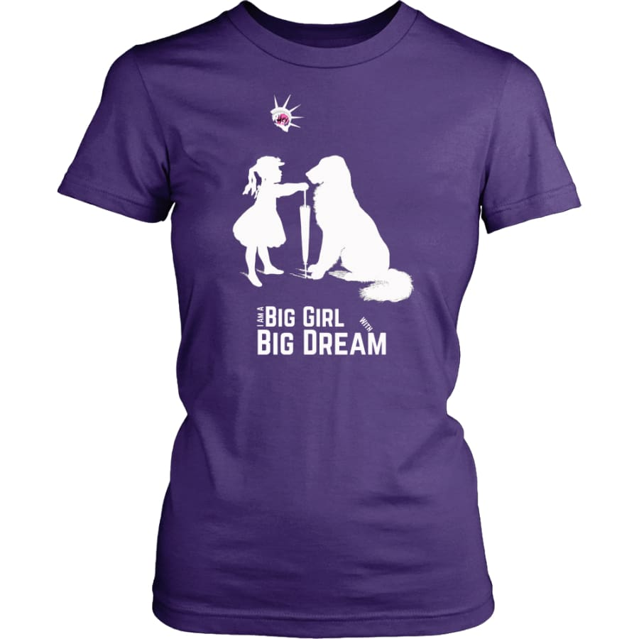 I Am A Big Girl With Dream (#IWD2017) Women Shirt (8 colors) - District Womens / Purple / XS