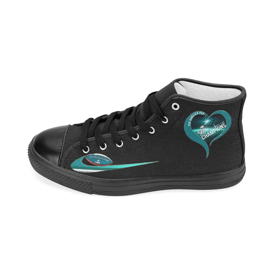I Love Philadelphia Eagles High Top Canvas Shoes Men Women kids
