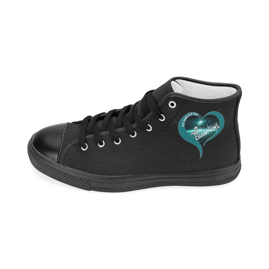 I love Philadelphia Eagles High Top Midnight Green Black| Super Bowl Shoes Mens Womens kids