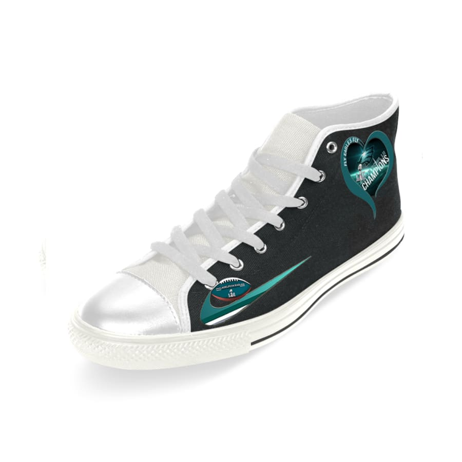 I love Philadelphia Eagles High Top Shoes Men Women kids|Super Bowl Champs