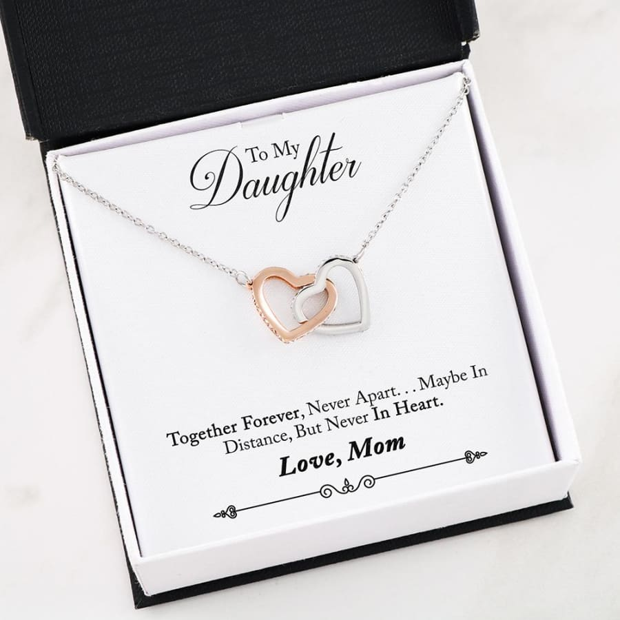 Interlocking Hearts Necklace - To My Daughter| Beloved Gift - 41-Mom-2-Daughter-Forever