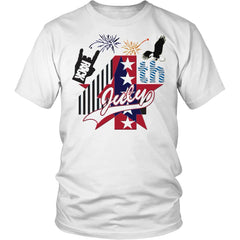July 4th Rock - Amazing Independent Day T-shirt Men Women (13 Colors)