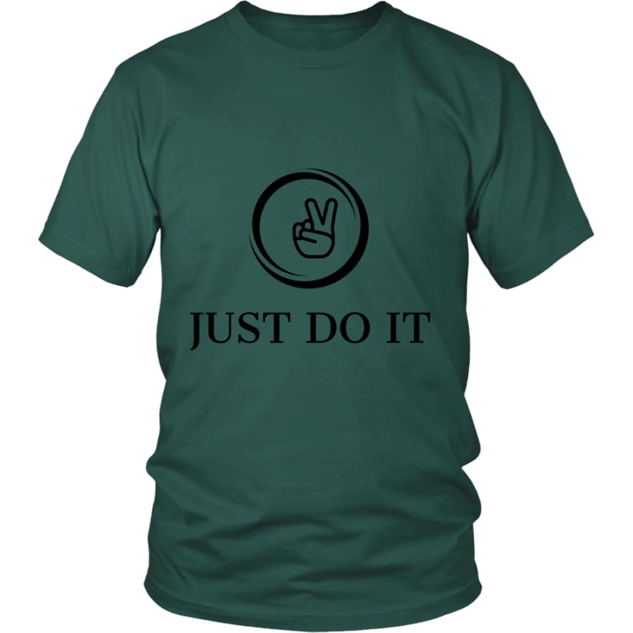 Just Do It District Unisex T-shirt (12 colors) - Shirt / Dark Green / S