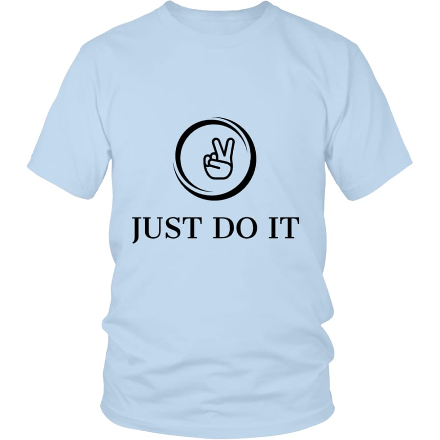 Just Do It District Unisex T-shirt (12 colors) - Shirt / Ice Blue / S
