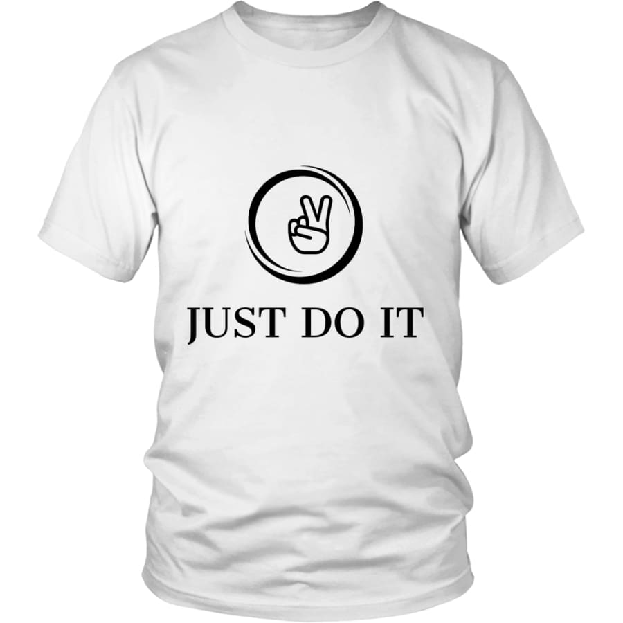 Just Do It District Unisex T-shirt (12 colors) - Shirt / White / S