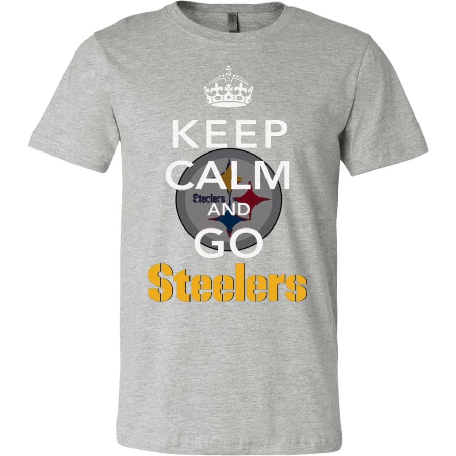 Keep Calm And Go Steelers Shirt (14 Colors) - Canvas Mens / Athletic Heather / S