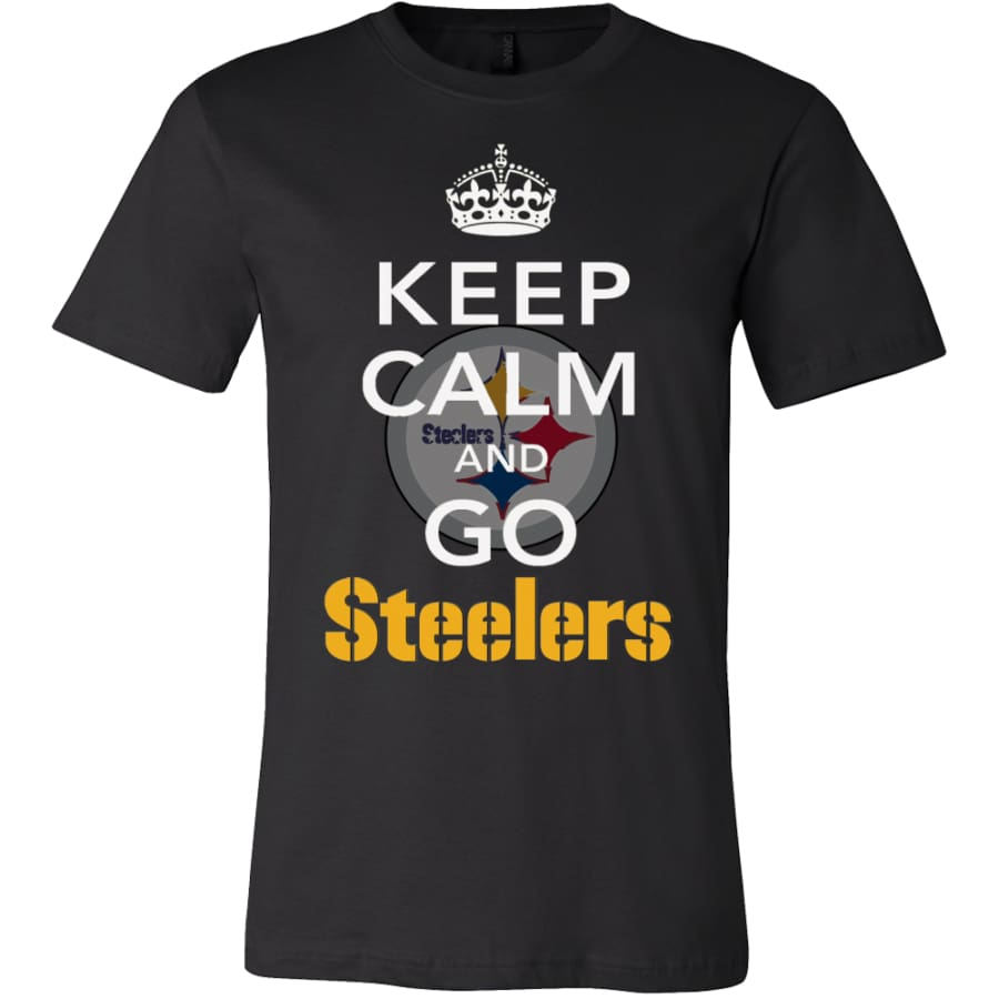 Keep Calm And Go Steelers Shirt (14 Colors) - Canvas Mens / Black / S