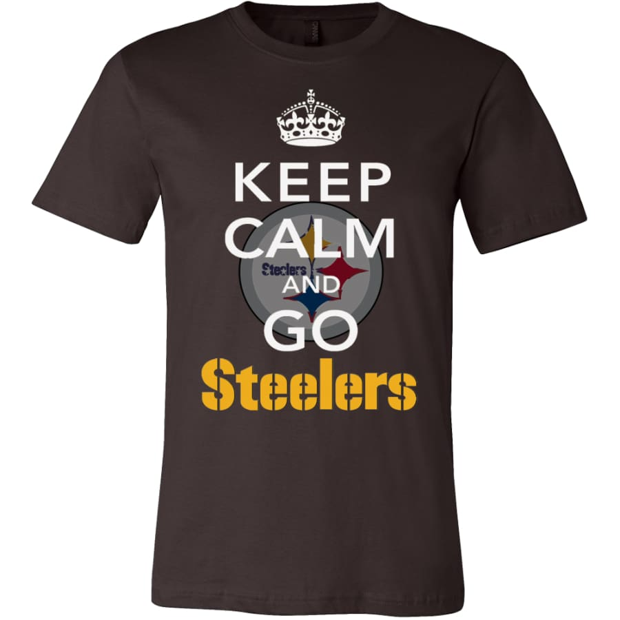 Keep Calm And Go Steelers Shirt (14 Colors) - Canvas Mens / Brown / S