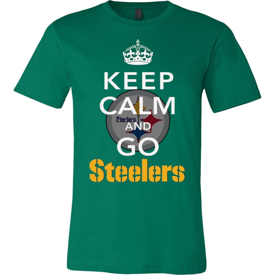 Keep Calm And Go Steelers Shirt (14 Colors) - Canvas Mens / Kelly Green / S