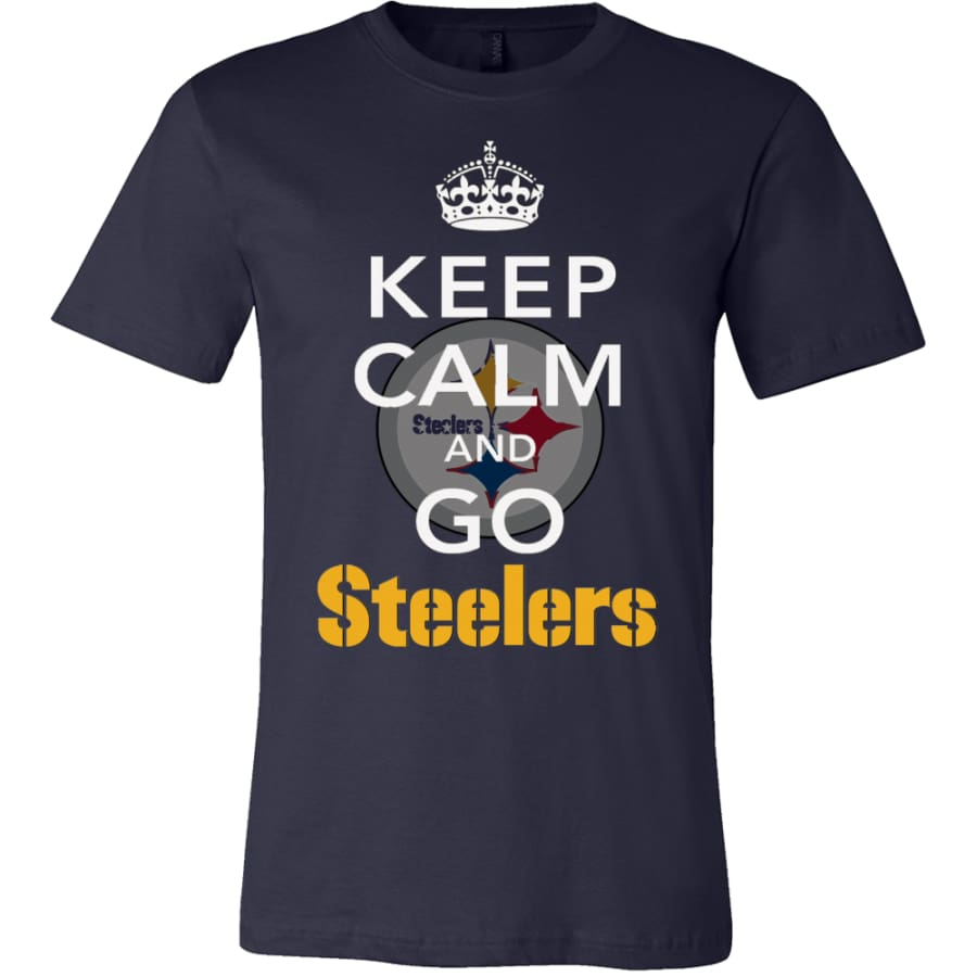 Keep Calm And Go Steelers Shirt (14 Colors) - Canvas Mens / Navy / S