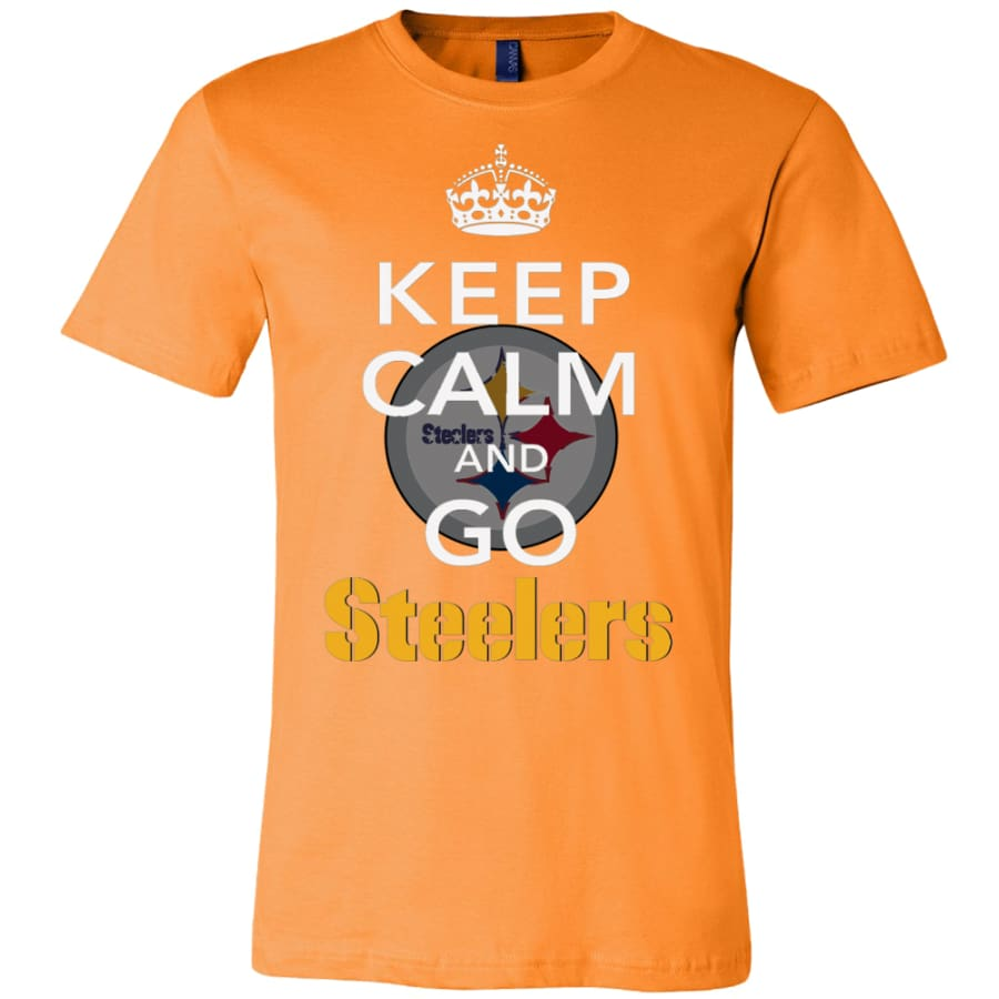 Keep Calm And Go Steelers Shirt (14 Colors) - Canvas Mens / Orange / S