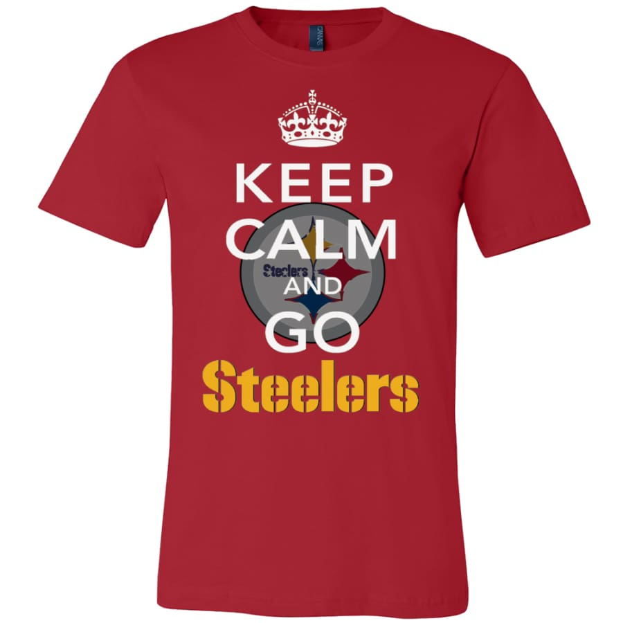 Keep Calm And Go Steelers Shirt (14 Colors) - Canvas Mens / Red / S