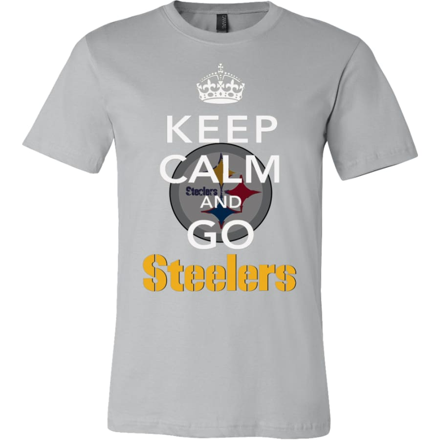 Keep Calm And Go Steelers Shirt (14 Colors) - Canvas Mens / Silver / S