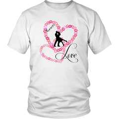 """Kissing Lips Heart - Love"" Valentines Shirt Mens Womens