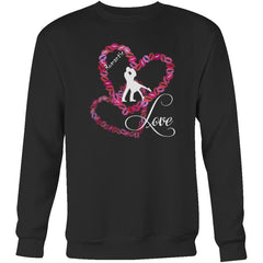 """Kissing Lips Heart - Love"" Valentines Sweatshirt