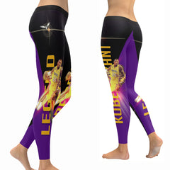 Kobe Bryant Leggings|NBA Legend Kobe Leggings|Lakers 24 Tights/Yoga Pants