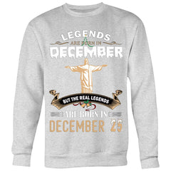 Legend Jesus Born In Christmas Sweater Mens Womens (6 colors)