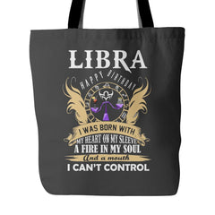 Libra, Happy Birthday - A Fire In My Soul Tote Bag (4 colors)
