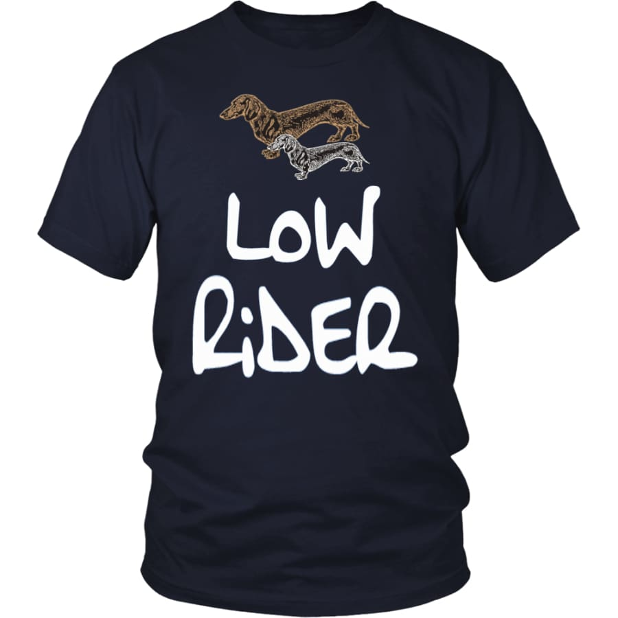 Low Rider Dog Lover Unisex Shirt (12 Colors) - District / Navy / S