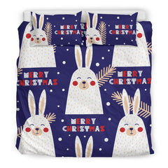 Merry Christmas Bunny Bedding Set