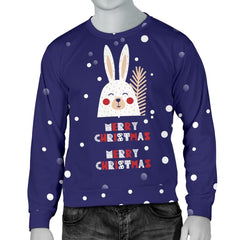 Merry Christmas Bunny Men's Sweater|Christmas Gift