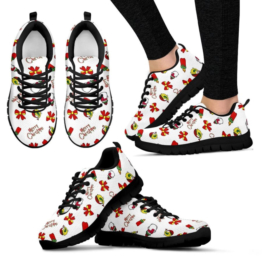 Merry Christmas Sneaker | For Women - Womens Sneakers / US5 (EU35)