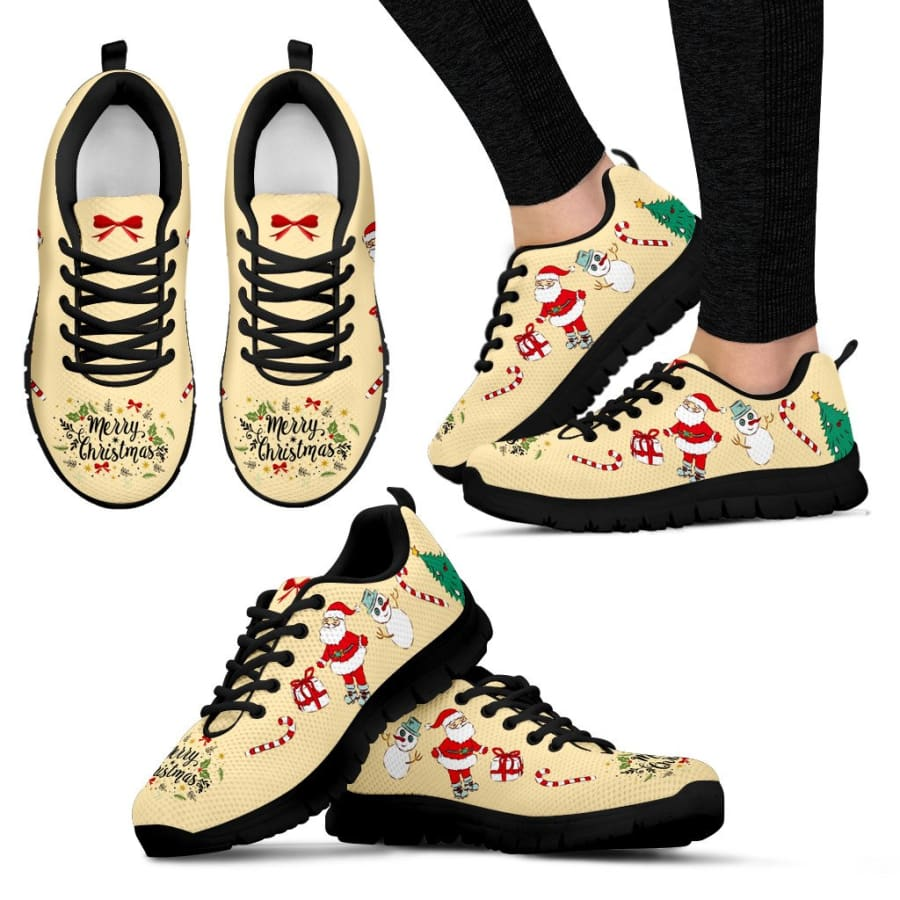 Merry Christmas Sneakers Womens | Running Shoes - US5 (EU35)