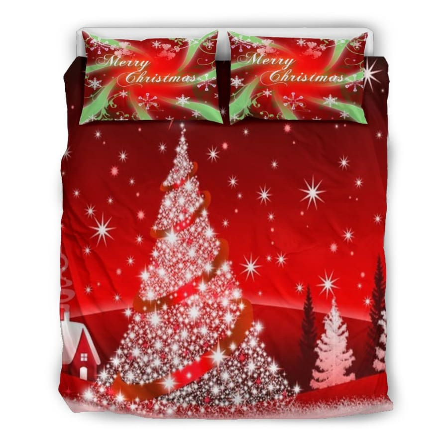 Merry Christmas - Tree Bedding Set - US Queen/Full