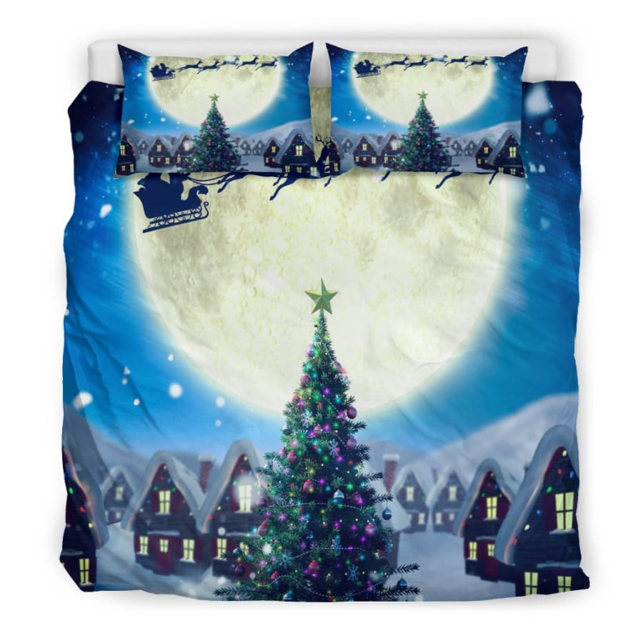 Merry Christmas Tree - Santa Claus Bedding Set - US King