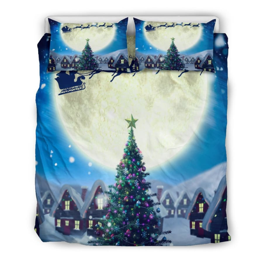 Merry Christmas Tree - Santa Claus Bedding Set - US Queen/Full