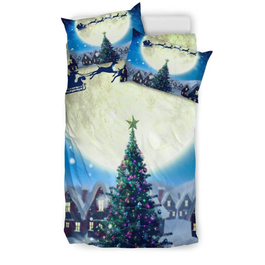 Merry Christmas Tree - Santa Claus Bedding Set - US Twin