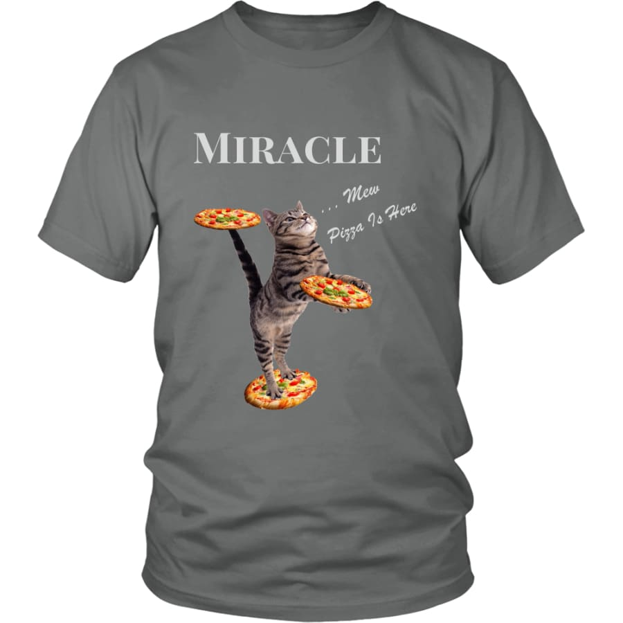 Miracle Cat District Unisex T-Shirt (12 colors) - Shirt / Grey / S