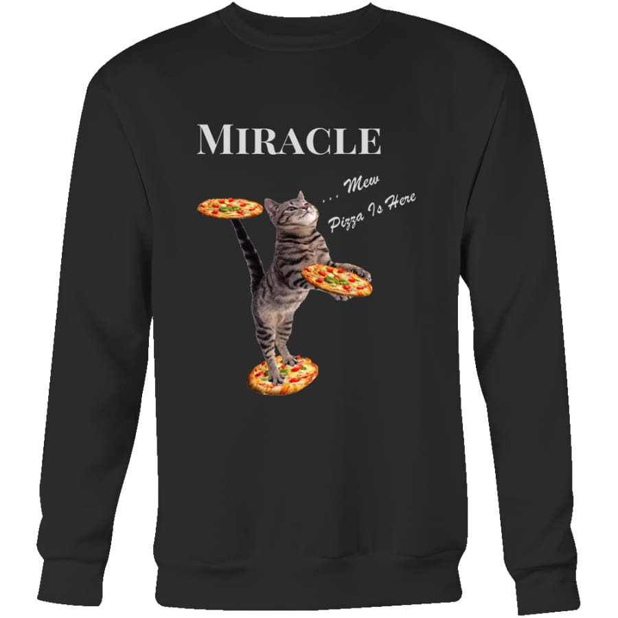 Miracle Cat Unisex Crewneck Sweatshirt (4 colors) - Black / S