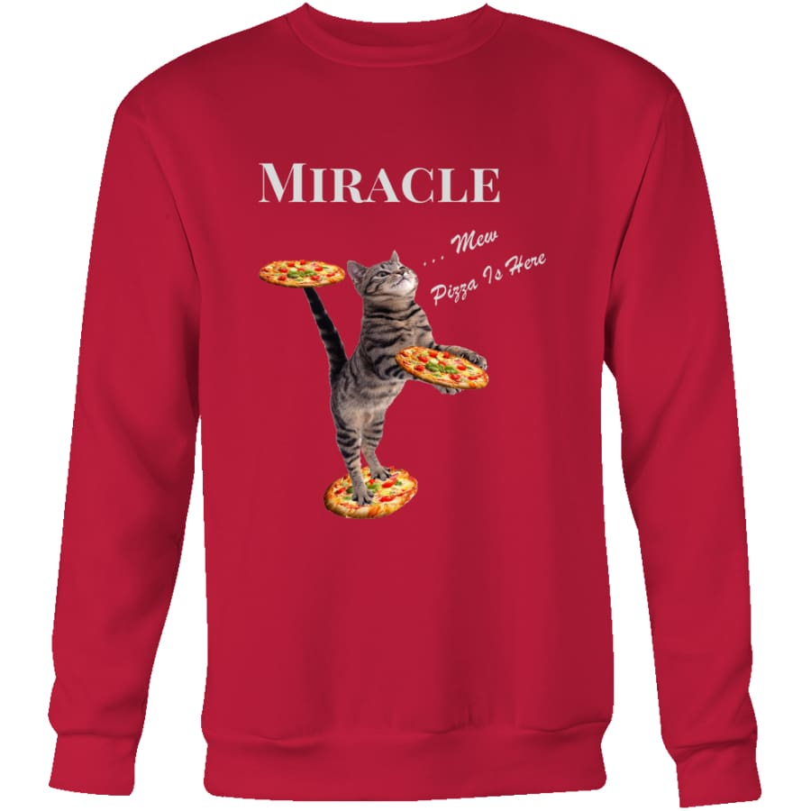 Miracle Cat Unisex Crewneck Sweatshirt (4 colors) - Red / S