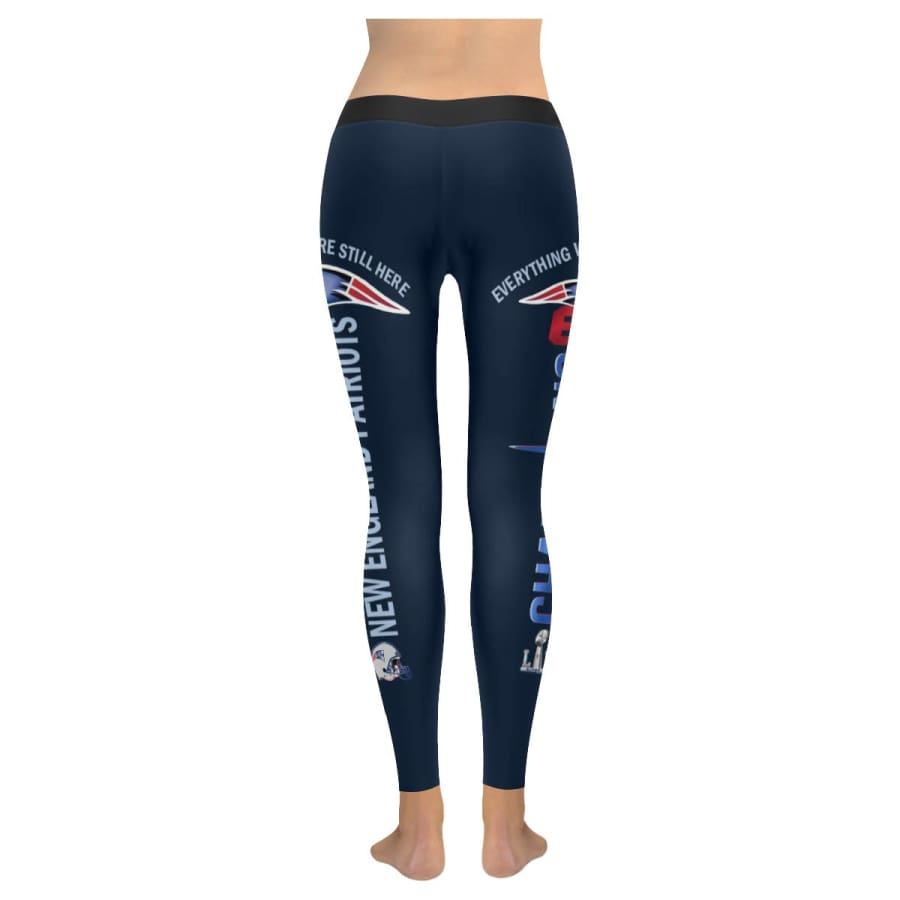 New England Patriots 6X Champs Leggings Navy Blue Black