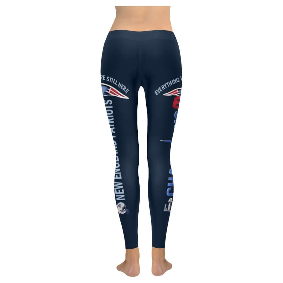 New England Patriots 6X Champs Leggings Navy Blue