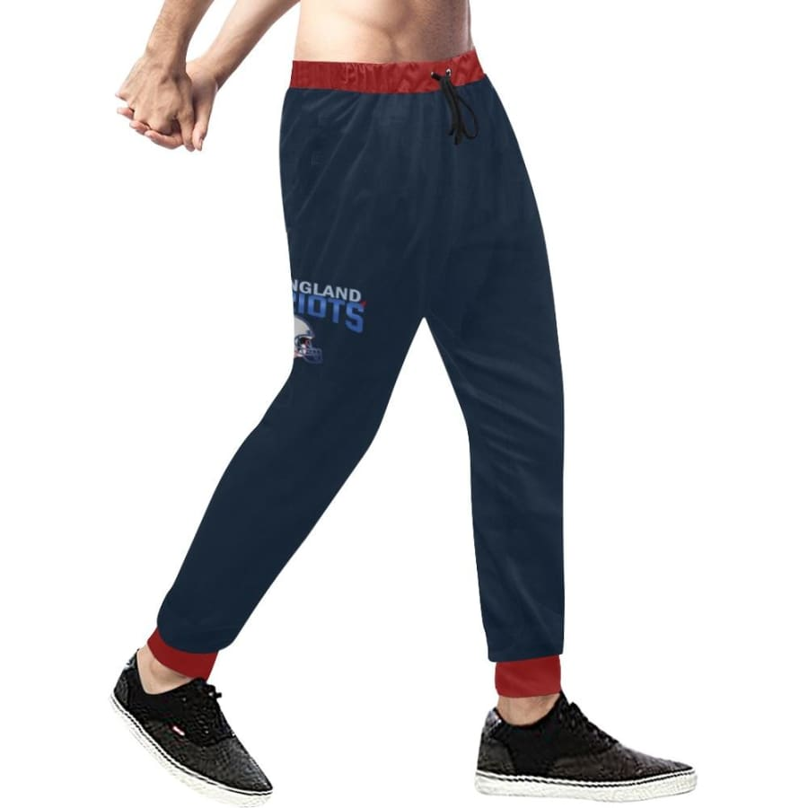 New England Patriots 6x Champs Mens Casual Sweatpants Navy Blue Red Jogger Pants