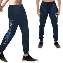 New England Patriots 6x Champs Men's Casual Sweatpants Navy Blue |SB LIII Jogger Pants