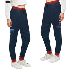 New England Patriots 6x Champs Women's Casual Sweatpants Navy Blue Red Jogger Pants