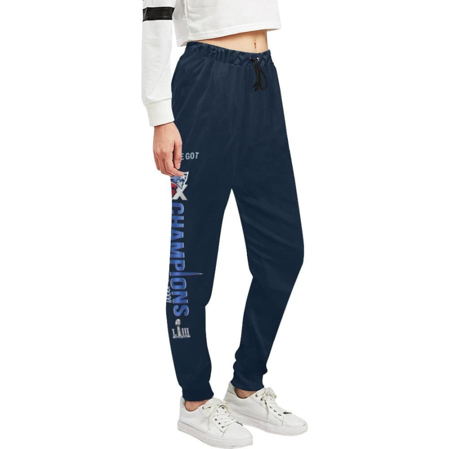 New England Patriots 6x Champs Womens Casual Sweatpants Navy Blue |SB LIII Jogger Pants