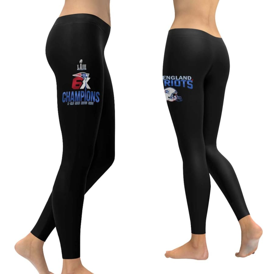 New England Patriots 6X Super Bowl Champs Leggings - XXS