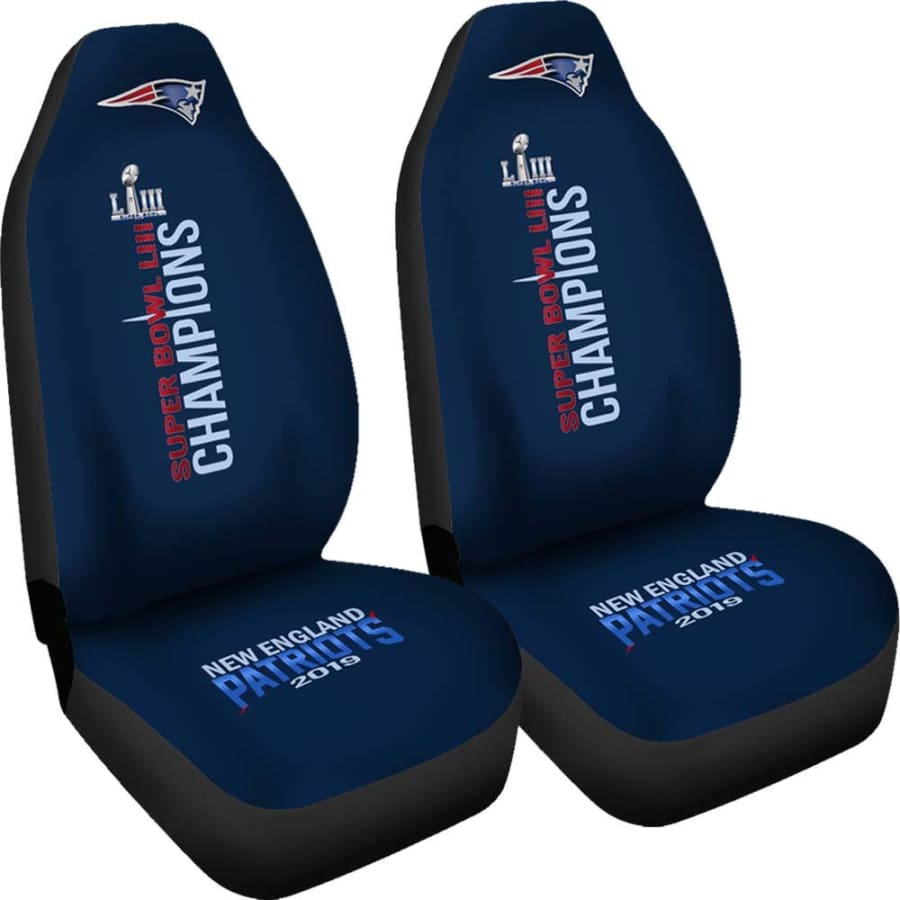 New England Patriots Car Seat Cover Set | Super Bowl LIII Champion Covers