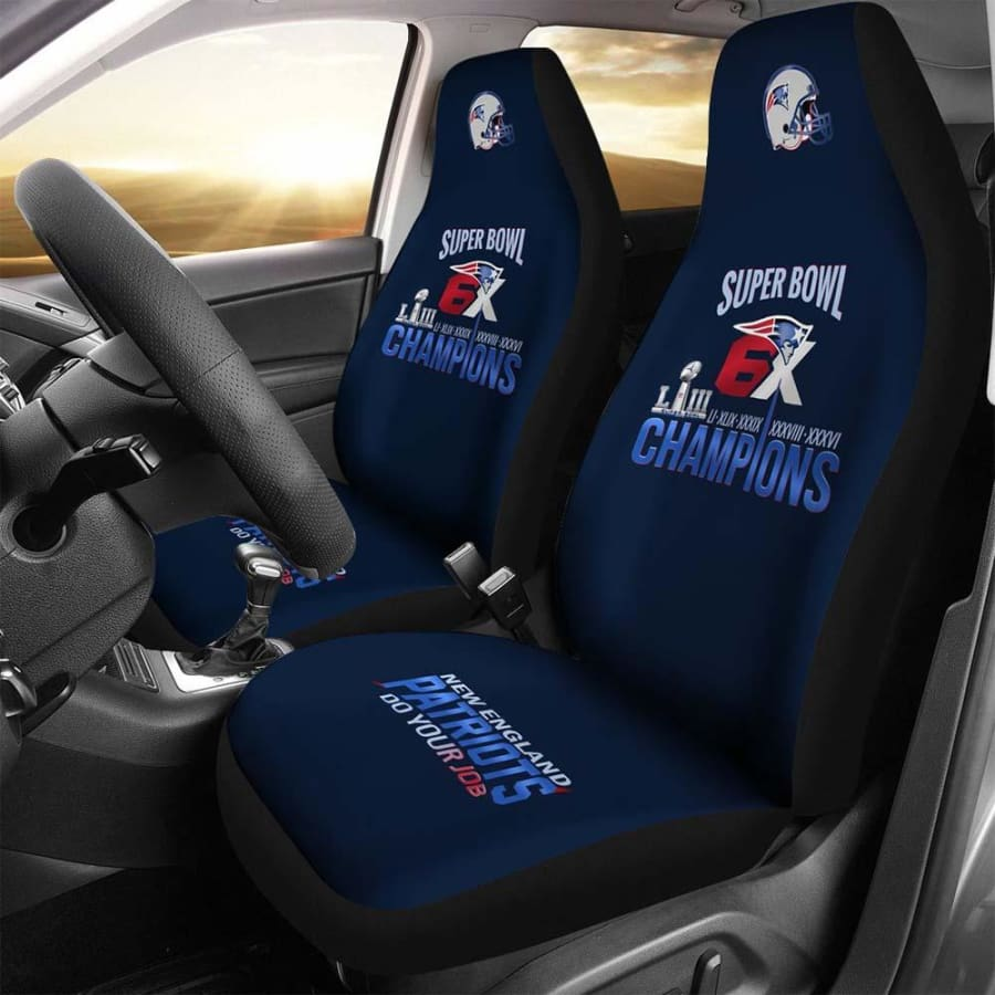 New England Patriots Car Seat Covers 2pcs | Do Your Job Cover Set