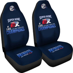 "Patriots Car Seat Covers 2pcs| NFL Patriots ""Do Your Job"" Seat Cover Set"
