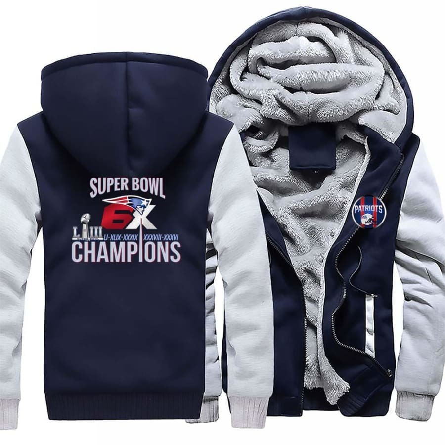 New England Patriots Jacket|6x Super Bowl Varsity Jackets (4 Colors)
