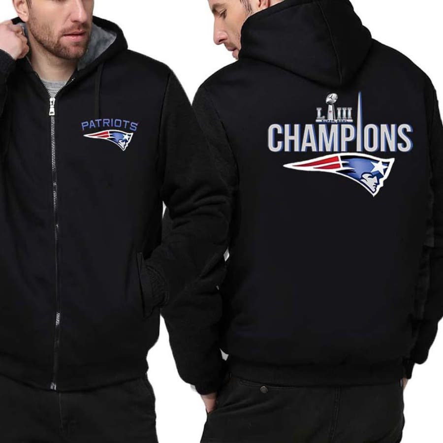 New England Patriots Jacket|Super Bowl LIII Varsity Jackets (4 Colors) - Black / 4XL