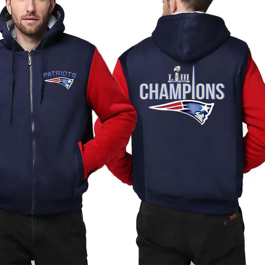 New England Patriots Jacket|Super Bowl LIII Varsity Jackets (4 Colors) - Blue Red / 4XL